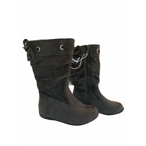 Harper Canyon grey suade bow boots girls kids